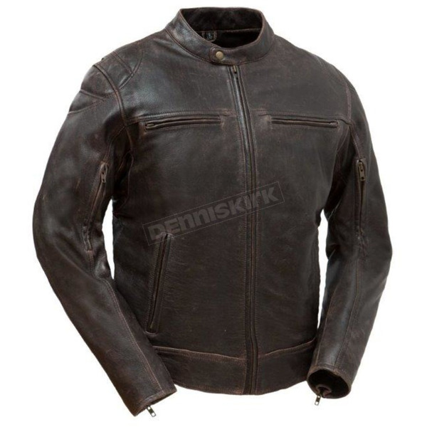 First Manufacturing Co. Maduro Brown Top Performer Leather Jacket - FIM-288-CHRZ-L