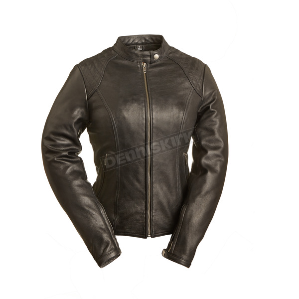 First Manufacturing Co. Women's Black Girly Girl Leather Jacket - FIL-102-CSLZ-M