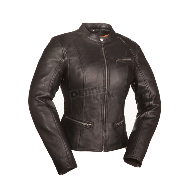 First Manufacturing Co. Women's Black First Fashionista Leather Jacket - FIL-108-CCBZ-XL
