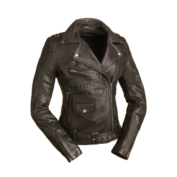 First Manufacturing Co. Women's Black Iris Leather Jacket - FIL-184-CJ-M