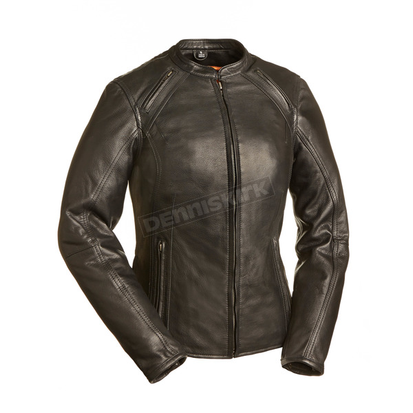 First Manufacturing Co. Women's Black The Flamingo Leather Jacket - FIL-106-CCBZ-L