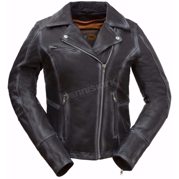 First Manufacturing Co. Women's Black Arcadia Leather Jacket - FIL186-CJZ-XL