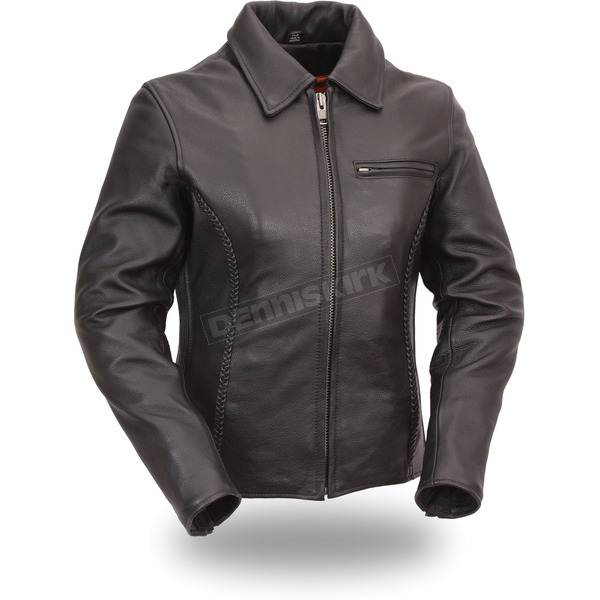 First Manufacturing Co. Women's Black The Contessa Leather Jacket - FIL-126-NKDZ-S