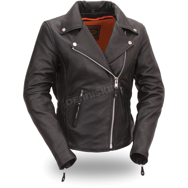 First Manufacturing Co. Women's Black Allure Leather Jacket - FIL-103-MNZ-M