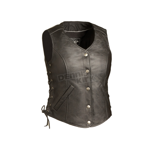 First Manufacturing Co. Women's Black Honey Badger Vest - FIL-566-RCSL-S