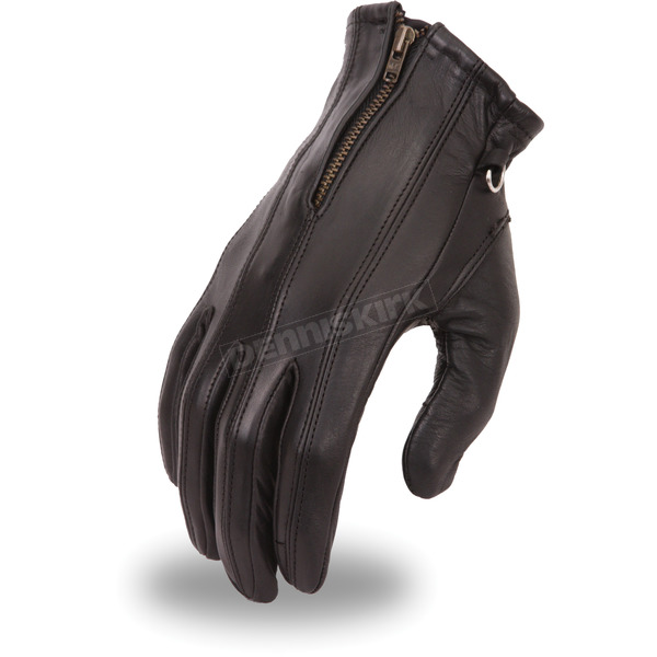 First Manufacturing Co. Women's Black FI118GEL Gloves - FI-118-GEL-L