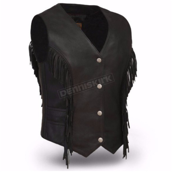First Manufacturing Co. Women's Black Apache Vest - FIL-572-SDM-2X