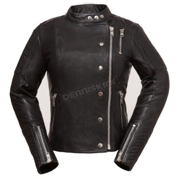 First Manufacturing Co. Women's Black The Warrior Princess Leather Jacket - FIL-187-CJZ-2X