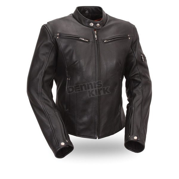 First Manufacturing Co. Women's Black Athena Leather Jacket - FIL157-NOCZ-XL