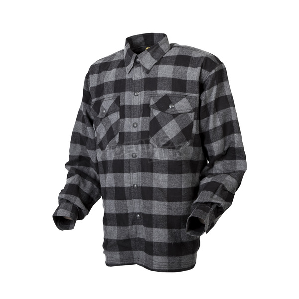 Scorpion Black/Gray Covert flannel Shirt - 13403-7