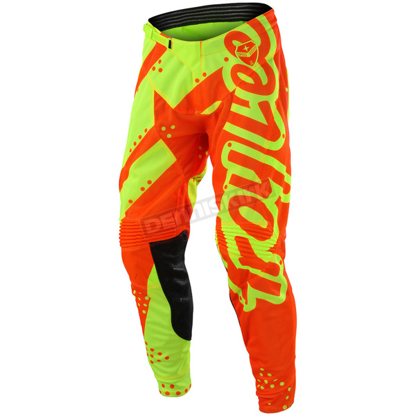 Troy Lee Designs Youth Fluorescent Yellow/Orange GP Shadow Pants - 209499577