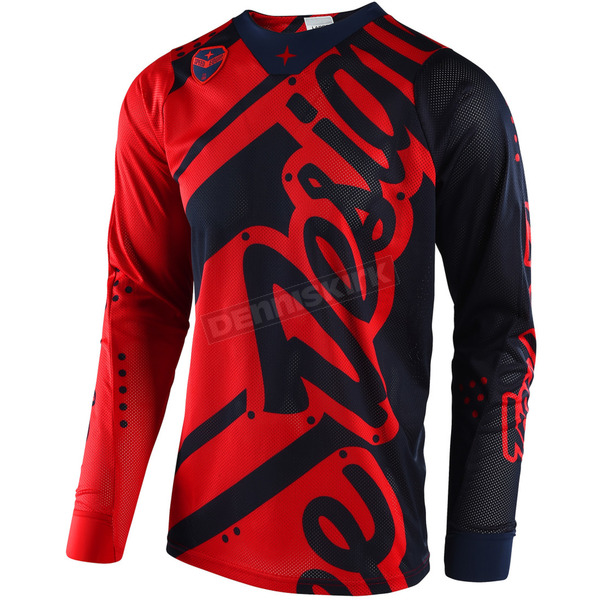 Troy Lee Designs Red/Navy SE Air Shadow Jersey - 302499435