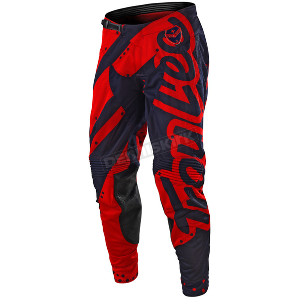 Troy Lee Designs Red/Navy SE Air Shadow Pants - 202499437