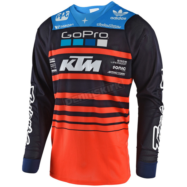 Troy Lee Designs Navy/Orange SE Air Streamline Team Jersey - 302404732