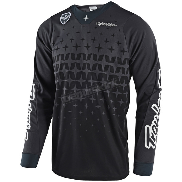 Troy Lee Designs Gray/Black SE Air Megaburst Jersey - 302489295