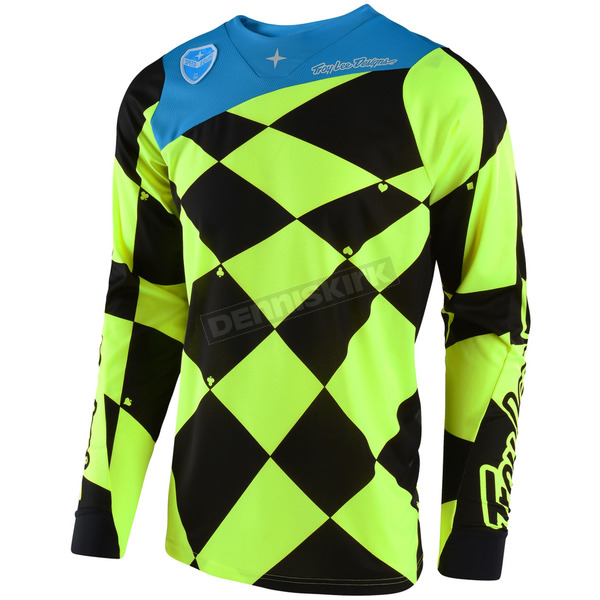 Troy Lee Designs Fluorescent Yellow/Black SE Joker Jersey - 303488532