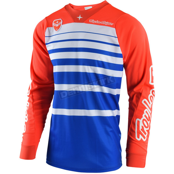 Troy Lee Designs Blue/Orange SE Streamline Jersey - 303404372