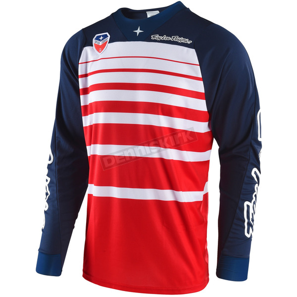 Troy Lee Designs Red/Navy SE Streamline Jersey - 303404436