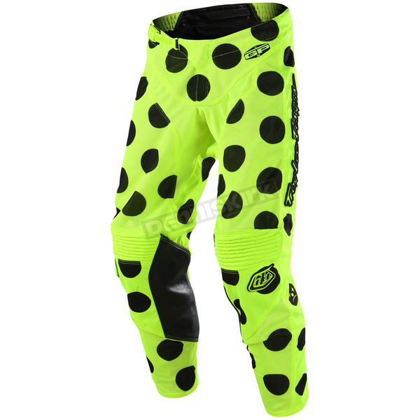 Troy Lee Designs Black/Fluorescent Yellow GP Air Polka Dot Pants - 204491523