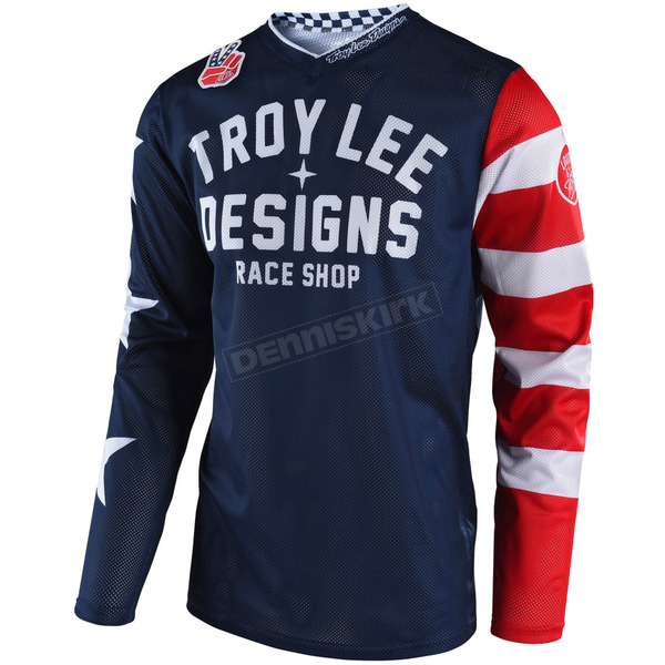 Troy Lee Designs Navy GP Air Americana Jersey - 304496306