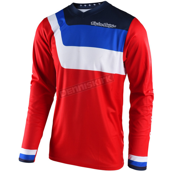Troy Lee Designs Youth Red GP Prisma Jersey - 309493404