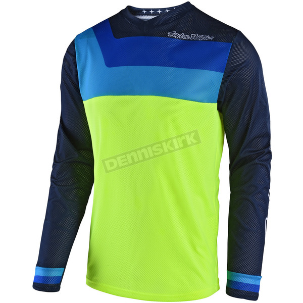 Troy Lee Designs Fluorescent Yellow GP Air Prisma Jersey - 304493503