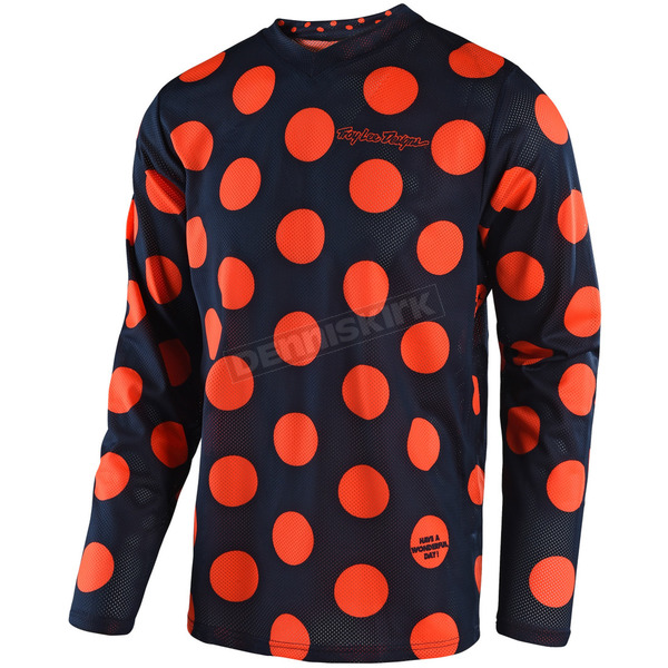 Troy Lee Designs Navy/Orange GP Air Polka Dot Jersey - 304491374