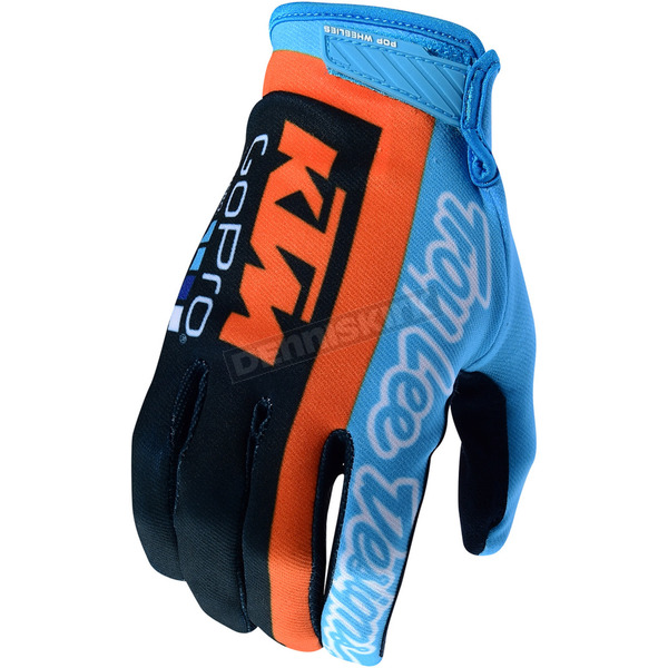 Troy Lee Designs Navy/Cyan Air KTM Team Gloves - 404505335