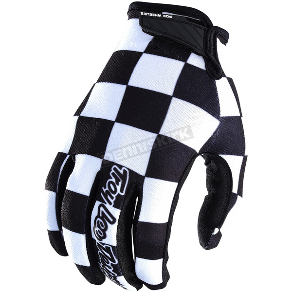 Troy Lee Designs Black/White Air Checker Gloves - 404044213