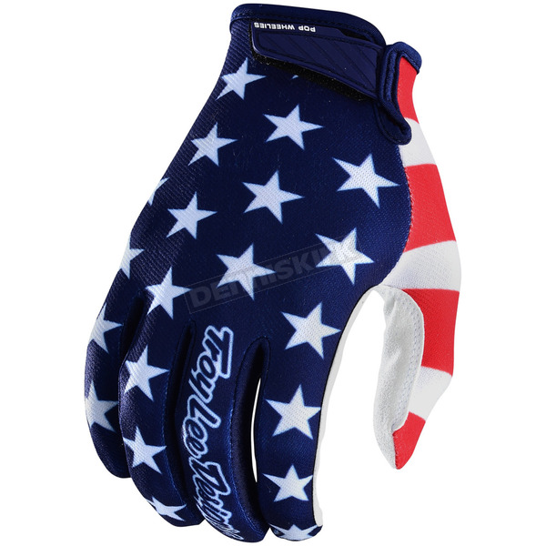 Troy Lee Designs Navy/Red Air  Americana Gloves - 404496343