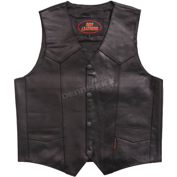 Hot Leathers Heavyweight Cowhide Leather Vest - VSM1014L