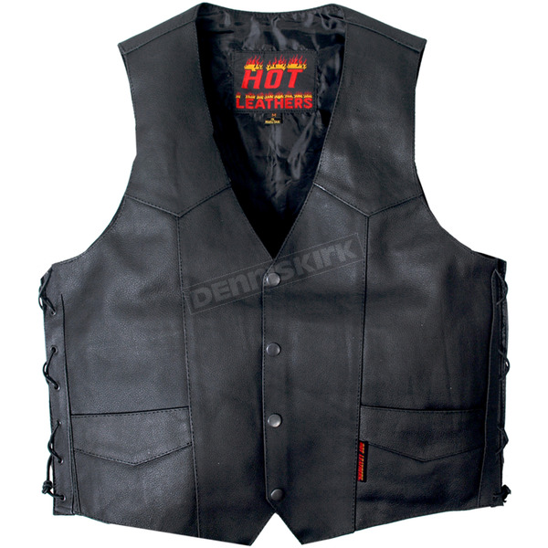 Hot Leathers Leather Vest w/2 Conceal Carry Pockets - VSM1022XL