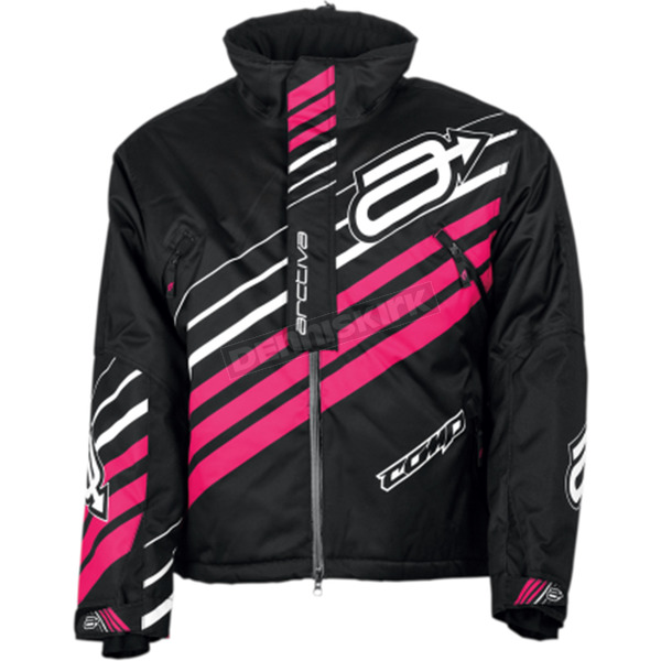 Arctiva Women's Black/Pink Comp Insulated Jacket - 3121-0637