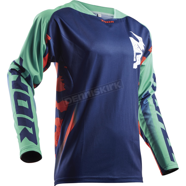 Thor Navy/Teal/Orange Fuse Rampant Jersey - 2910-4316