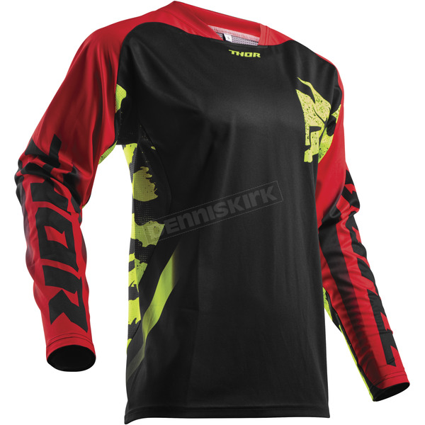 Thor Black/Red/Lime Fuse Rampant Jersey - 2910-4318