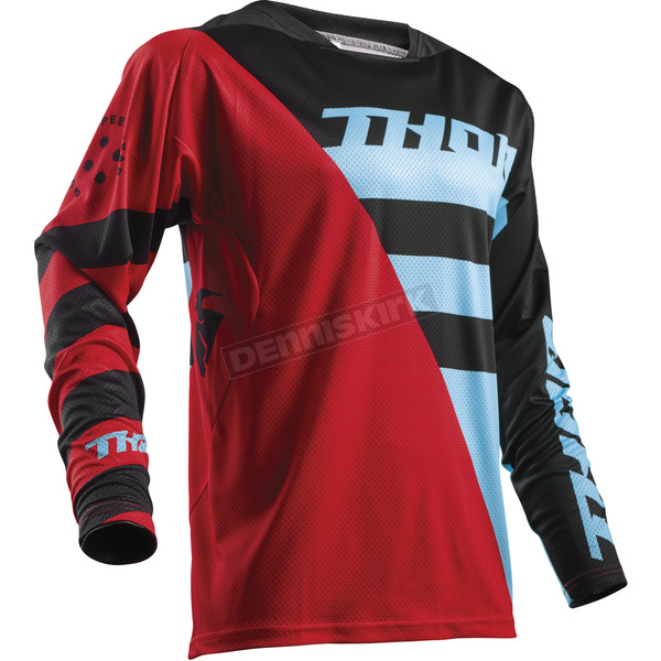 Thor Red/Blue Fuse Air Rive Jersey - 2910-4330