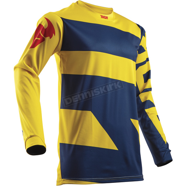 Thor Navy/Yellow Pulse Level Jersey - 2910-4358