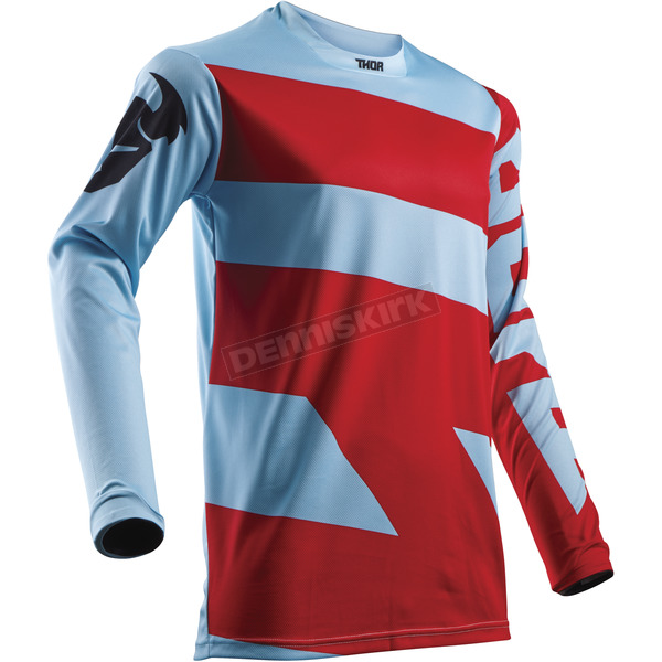 Thor Powder Blue/Red Pulse Level Jersey - 2910-4364