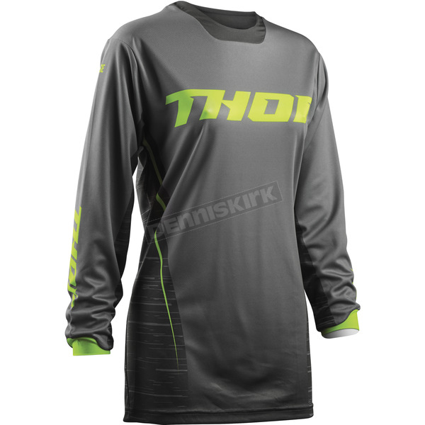 Thor Women's Gray/Lime Pulse Dashe Jersey - 2911-0152