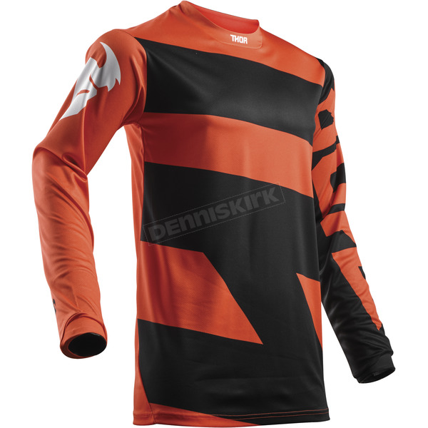 Thor Youth Red Orange/Black Pulse Level Jersey  - 2912-1488