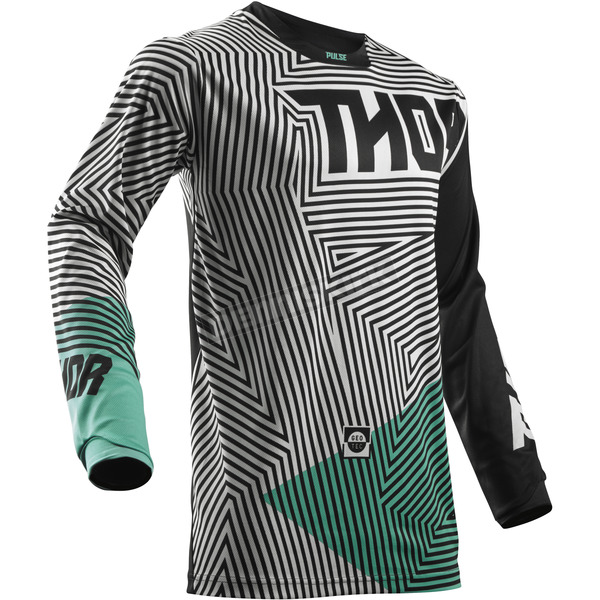 Thor Youth Black/Teal Pulse Geotec Jersey - 2912-1510