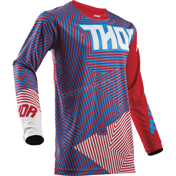 Thor Youth Red/Blue Geotec Jersey - 2912-1513