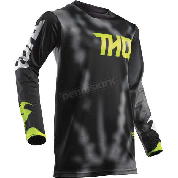 Thor Youth Black Pulse Air Radiate Jersey - 2912-1529