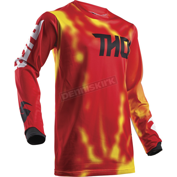 Thor Youth Red Pulse Air Radiate Jersey - 2912-1538