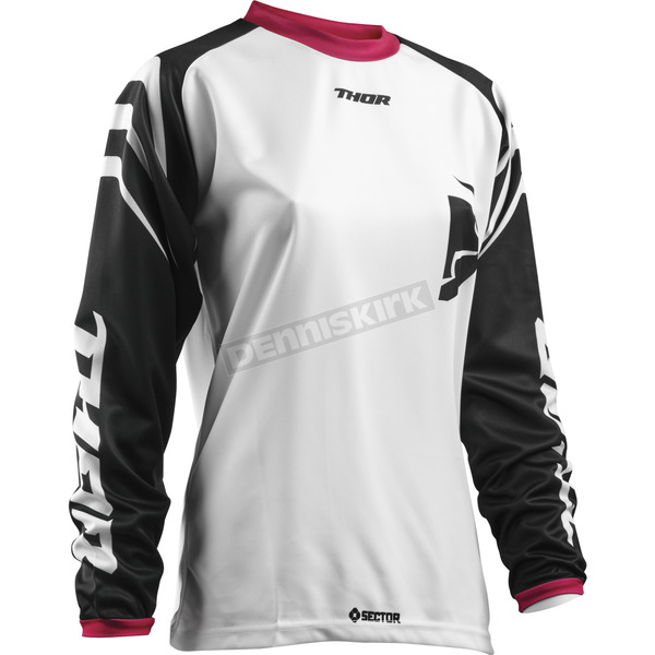 Thor Women's Black/Pink Sector Zones Jersey - 2911-0165