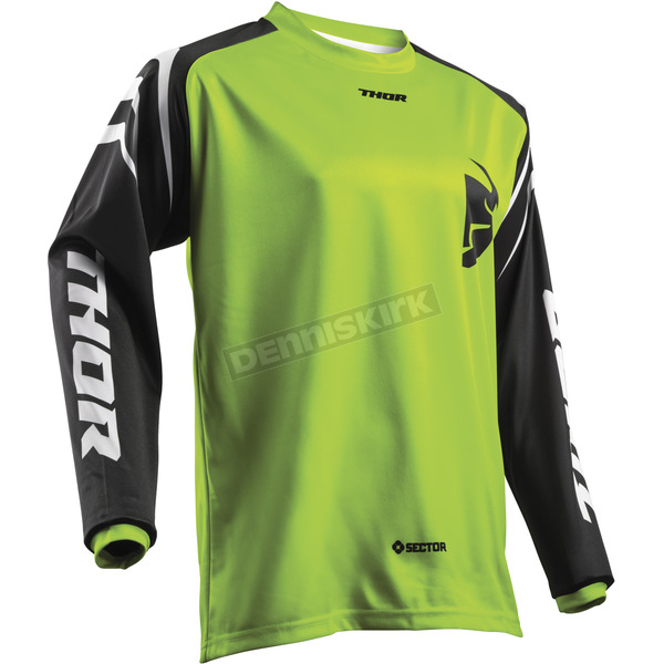 Thor Youth Lime Green Sector Zones Jersey - 2912-1556