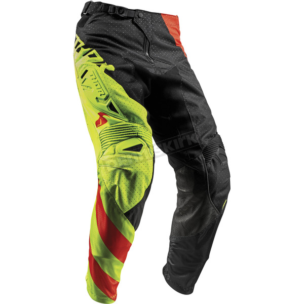 Thor Lime/Orange Fuse Air Rive Pants - 2901-6433