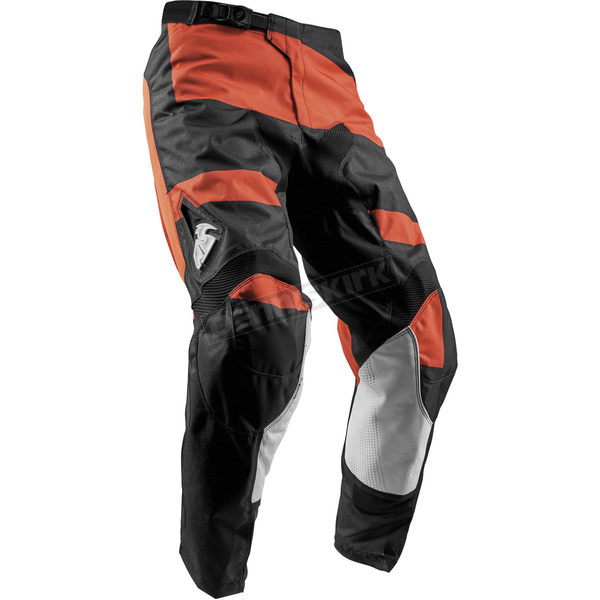 Thor Youth Red Orange/Black Pulse Level Pants  - 2903-1530