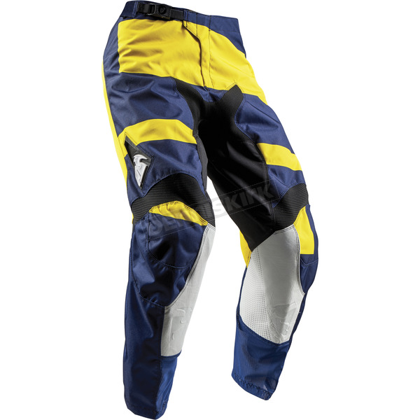 Thor Youth Navy/Yellow Pulse Level Pants  - 2903-1539
