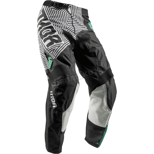 Thor Youth Black/Teal Pulse Geotec Pants - 2903-1543